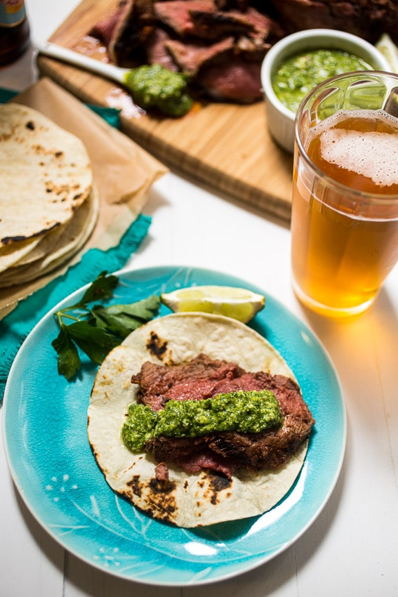 Beer Marinated Ancho Chili Spiced Lamb from The Girl In The Little Red Kitchen