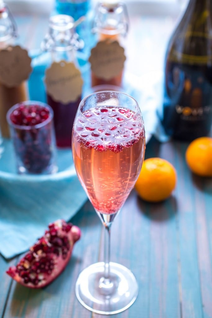 Winter Fruit Mimosas from The Girl In The Little Red Kitchen
