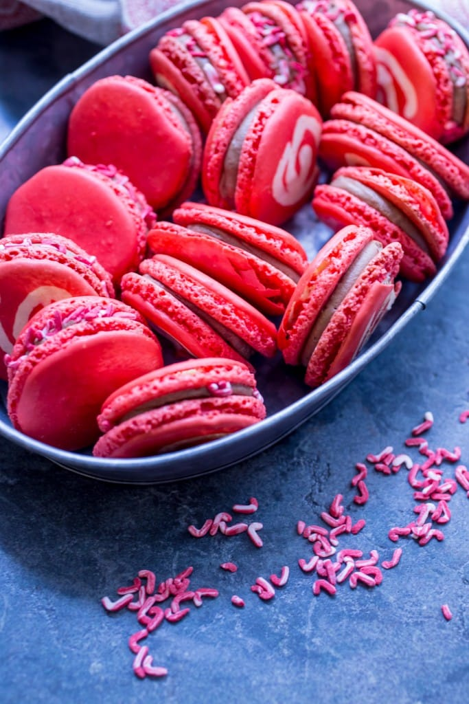 Chocolate Peppermint Macarons from The Girl In The Little Red Kitchen