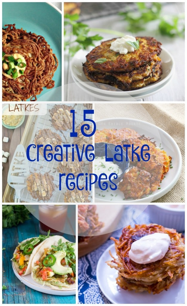 15 Creative Latke Recipes | girlinthelittleredkitchen.com