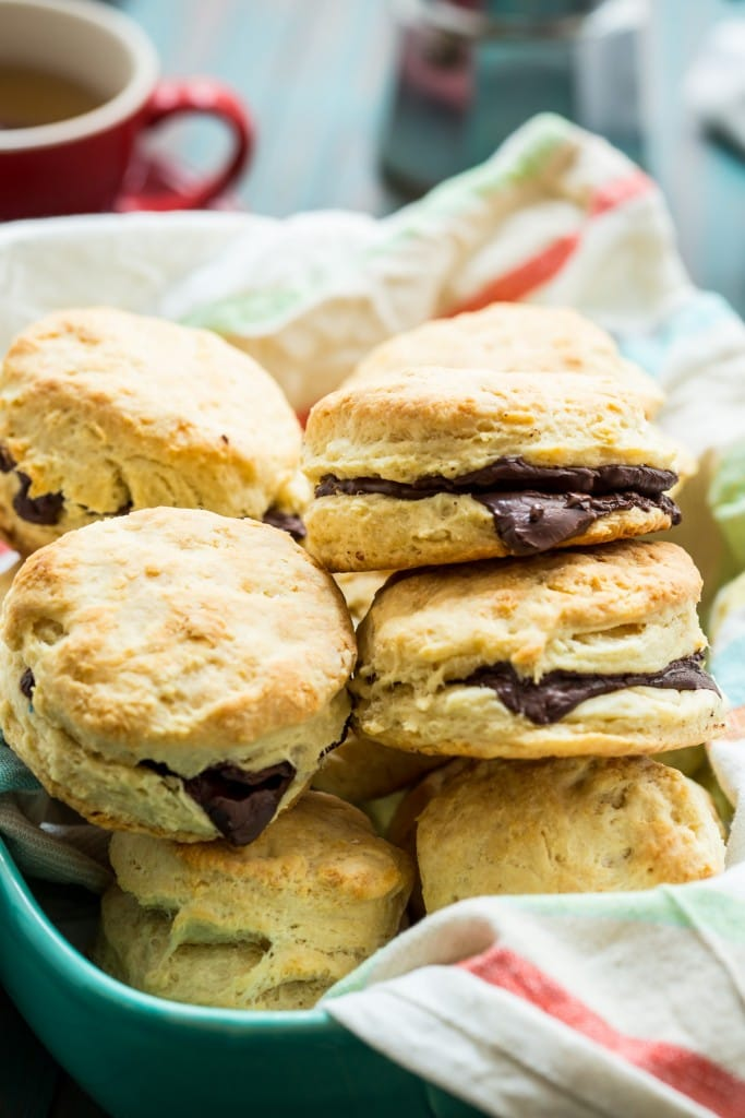 Chocolate Almond Biscuits | girlinthelittleredkitchen.com