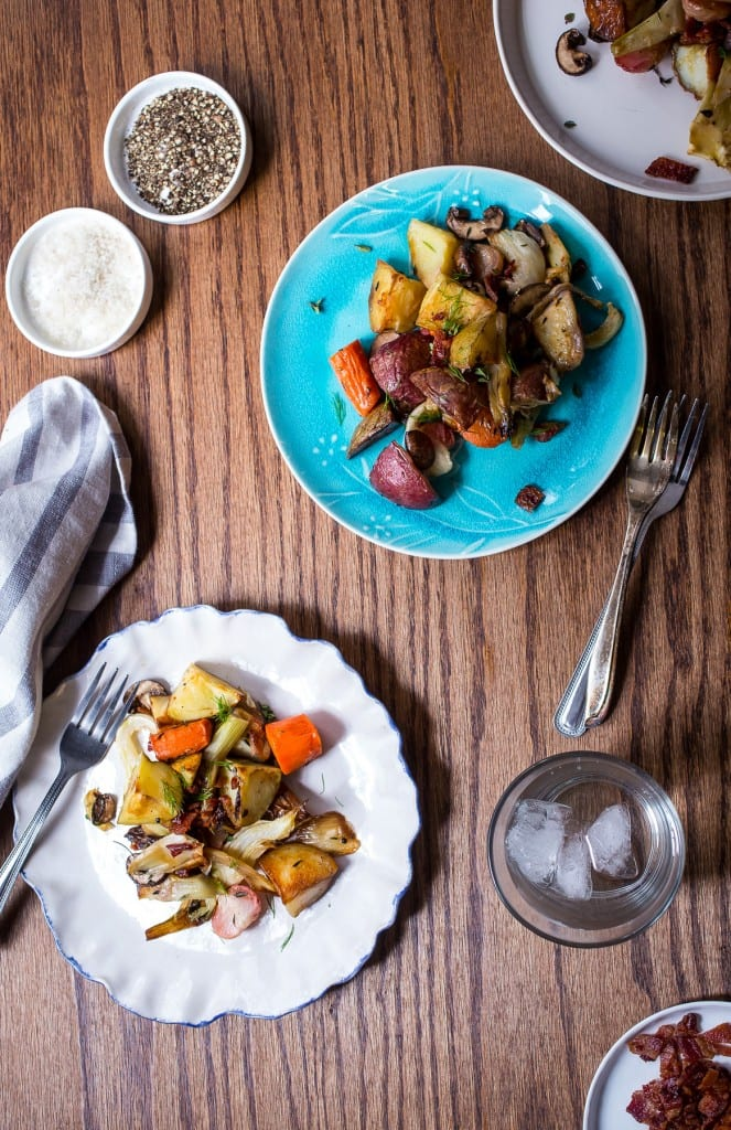 Potato and Vegetable Hash from The Girl In The Little Red Kitchen - Perfect meal for breakfast, brunch, or brinner!