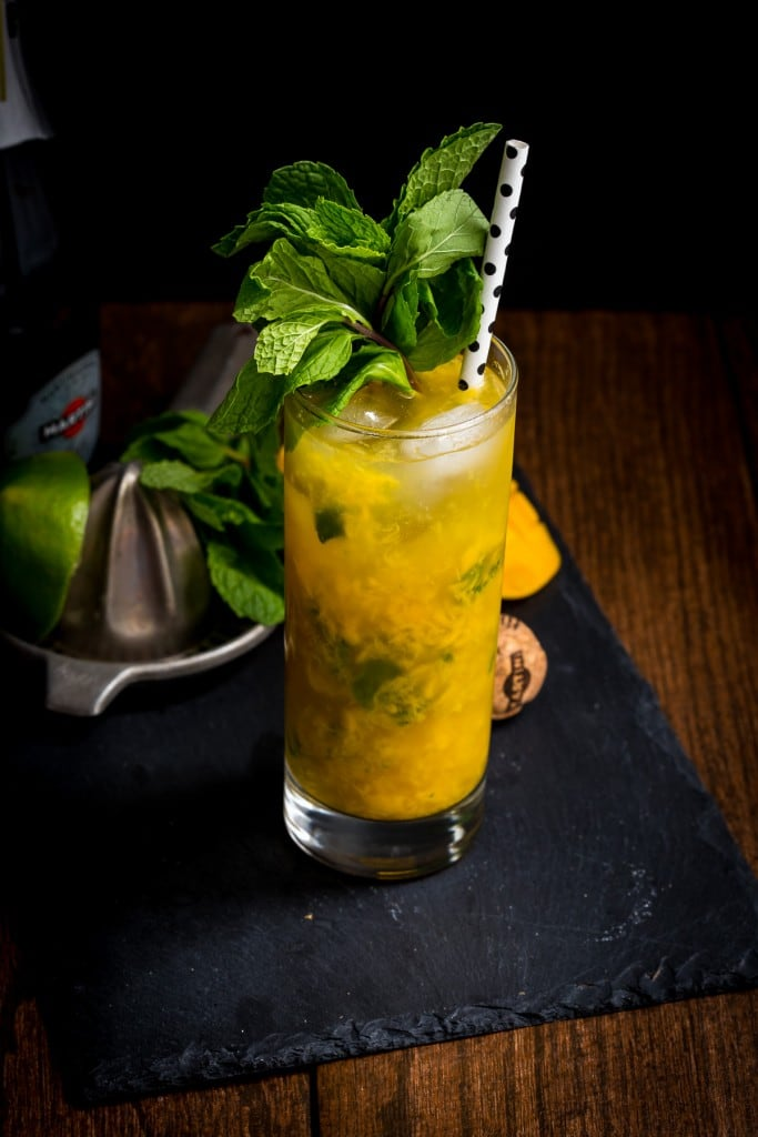 Mango Mint Spritzer from The Girl In The Little Red Kitchen