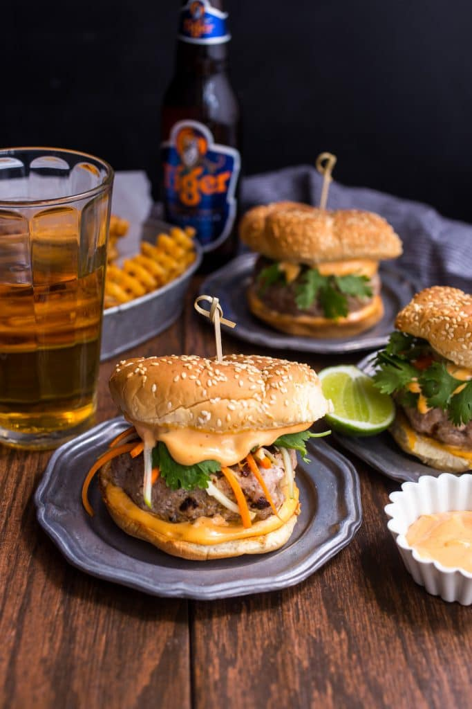 Banh Mi Burgers from The Girl In The Little Red Kitchen