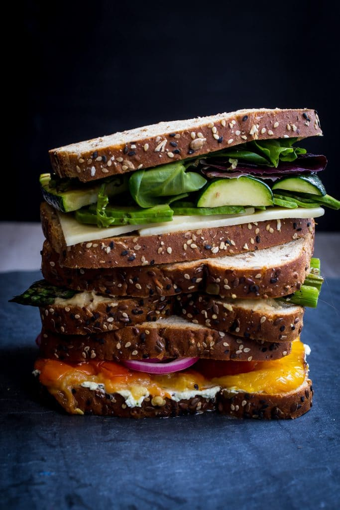 Summer Vegetable Sandwich | girlinthelittleredkitchen.com