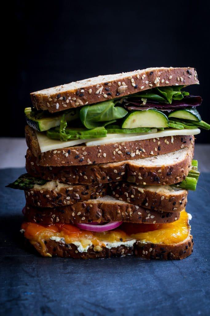 Summer Vegetable Sandwich Bar | girlinthelittleredkitchen.com