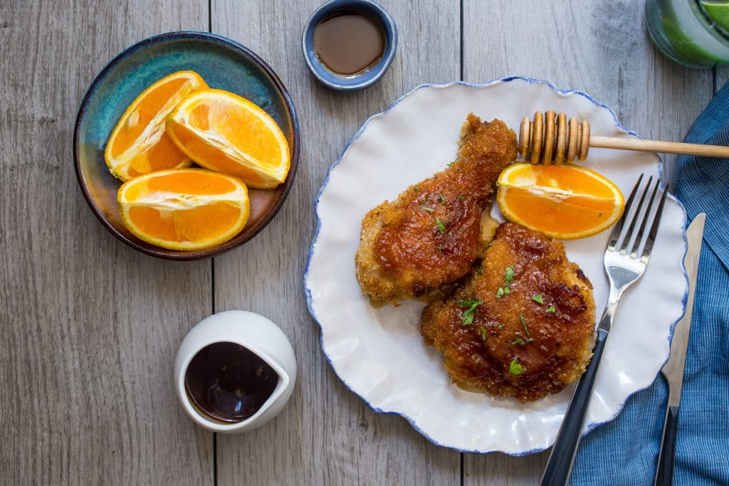 Honey Baked Chicken | girlinthelittleredkitchen.com