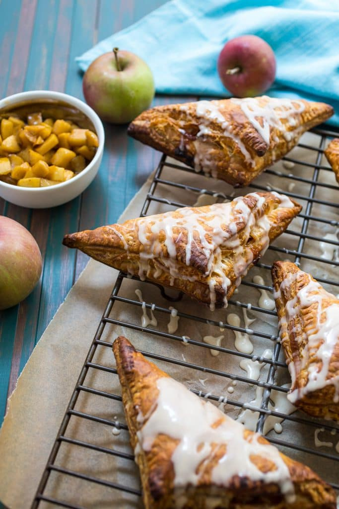 Rum Spiked Apple Turnovers from The Girl In The Little Red Kitchen