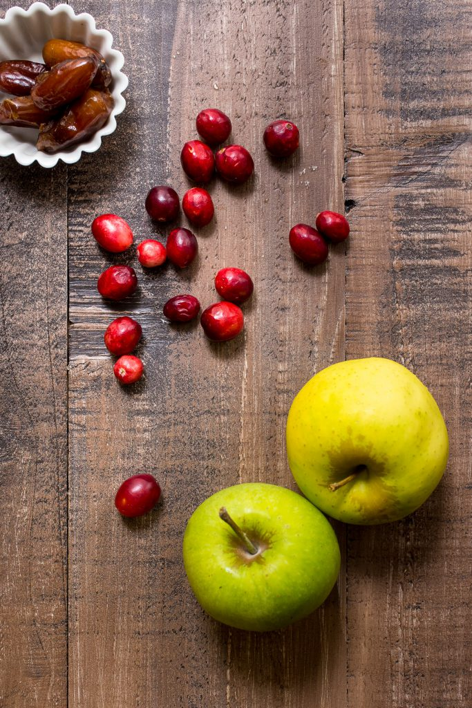 Cranberry Apple Date Sauce | girlinthelittleredkitchen.com