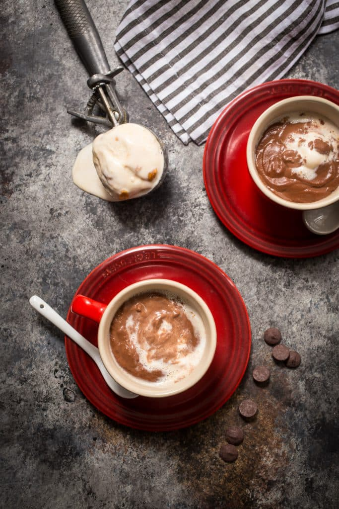 Hot Chocolate Affogato | girlinthelittleredkitchen.com