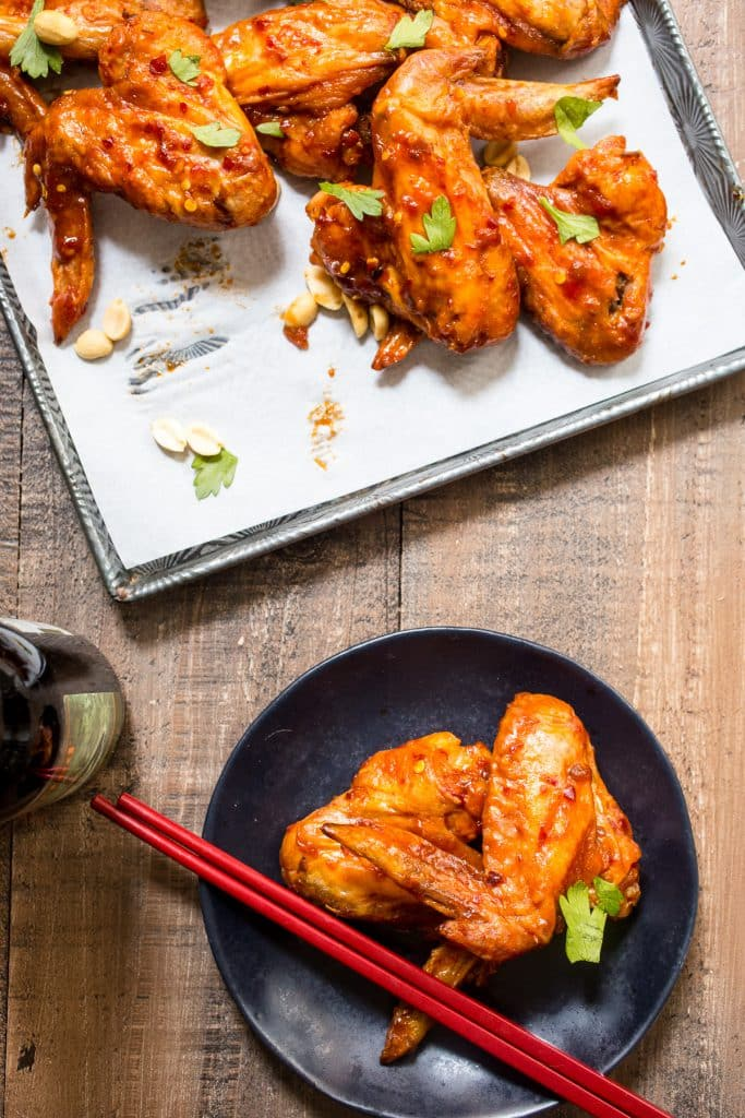 Kung Pao Chicken Wings | girlinthelittleredkitchen.com