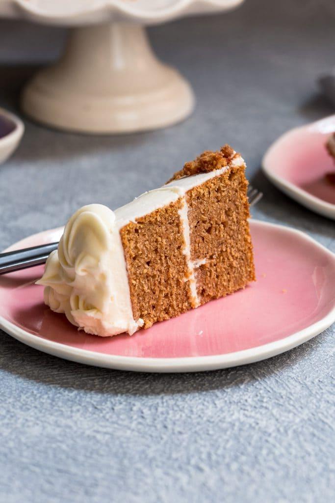 Beet Velvet Cake for Two | girlinthelittleredkitchen.com