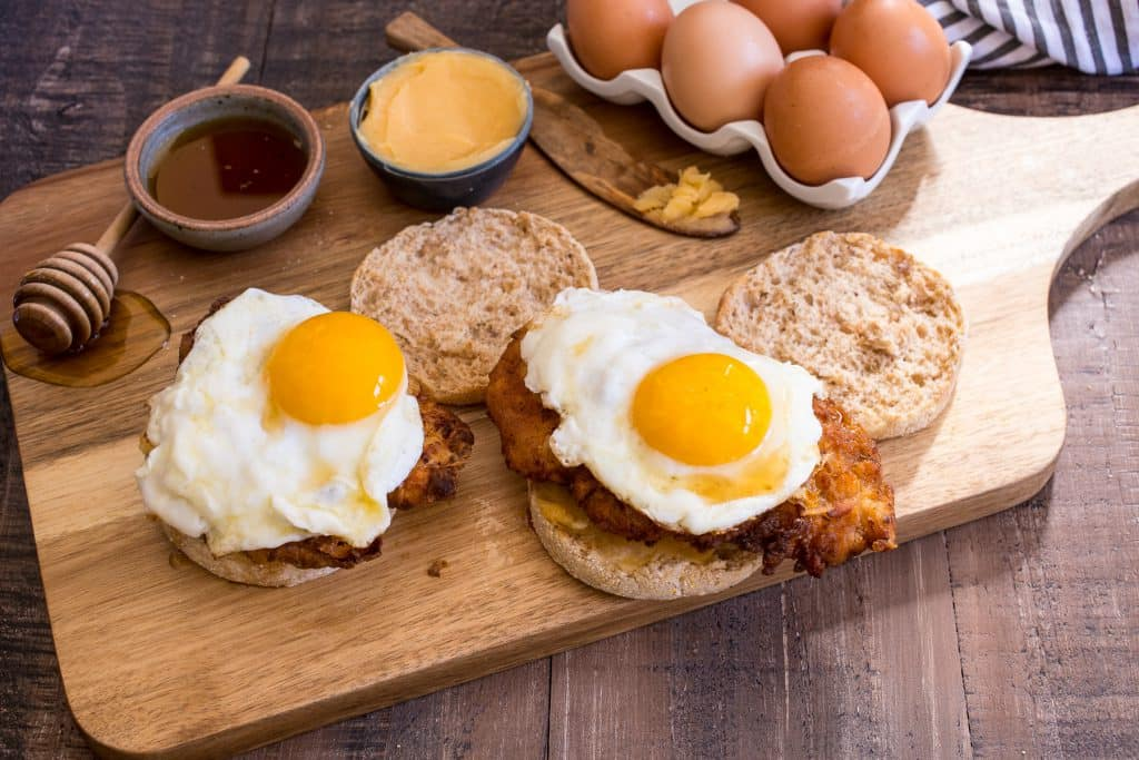 Chicken and Egg Sandwich | girlinthelittleredkitchen.com