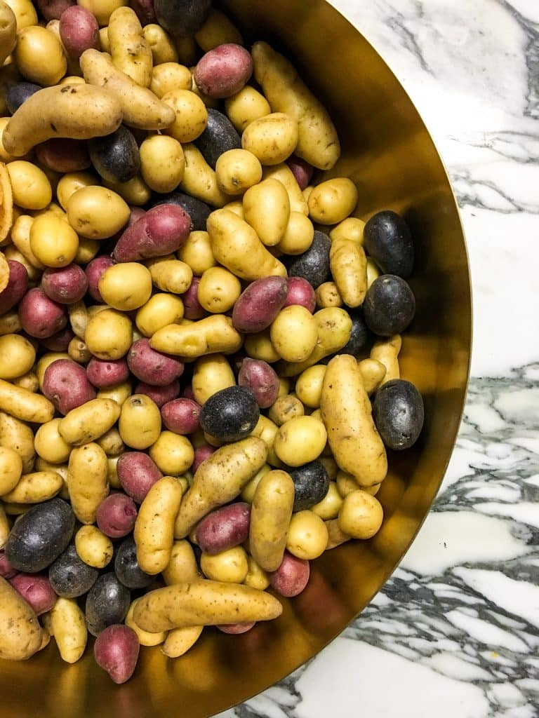 Fingerling Potatoes | girlinthelittleredkitchen.com