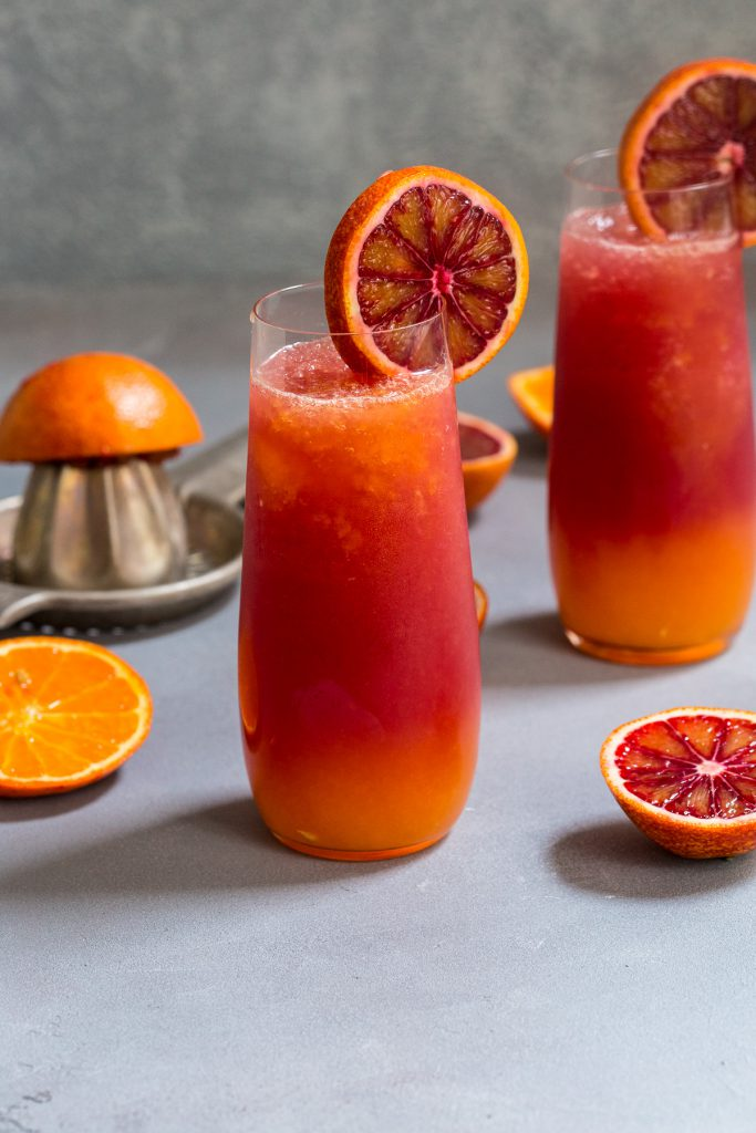 Winter Tequila Sunrise Cocktail | girlinthelittleredkitchen.com