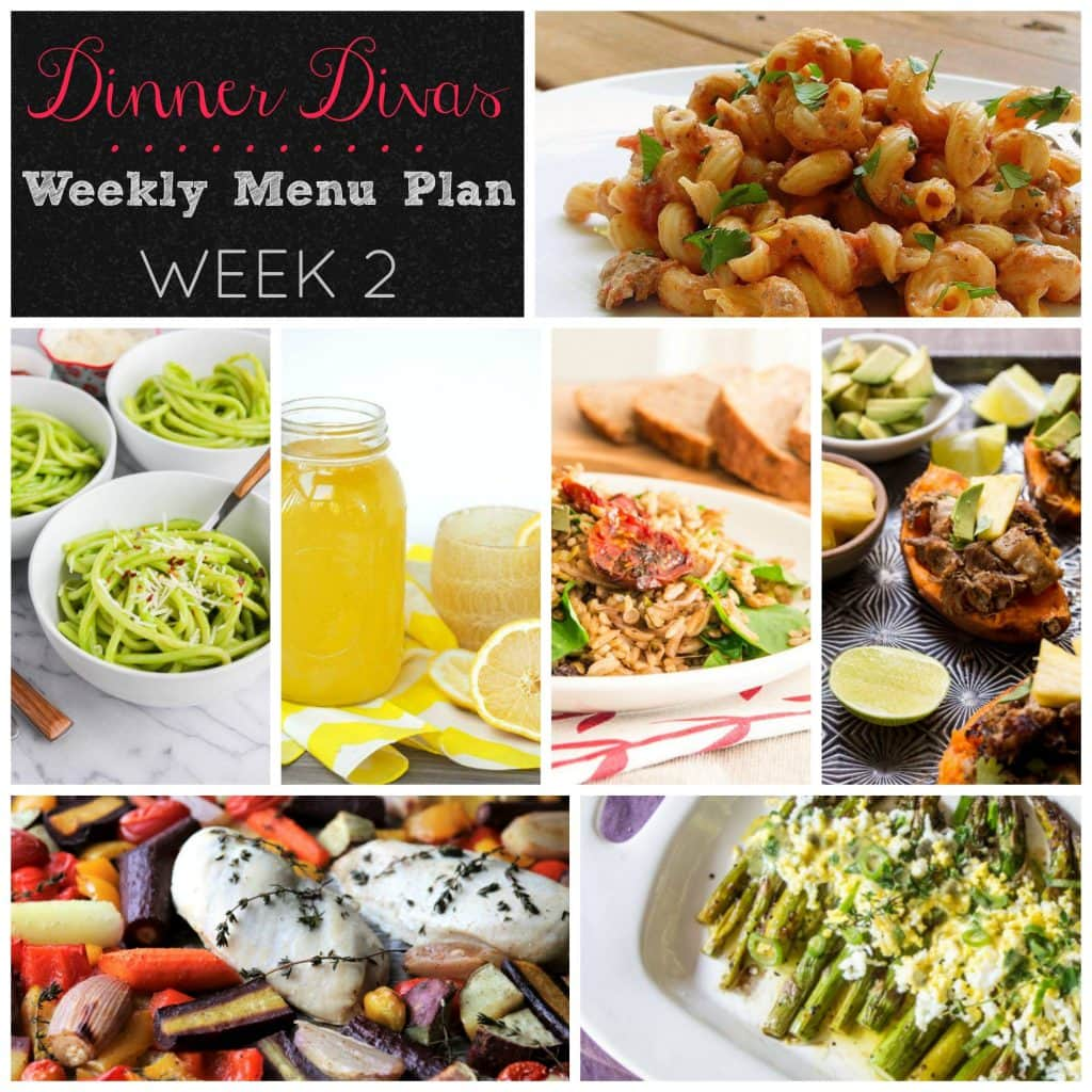 Weekly Meal Plan Week 2 | girlinthelittleredkitchen.com