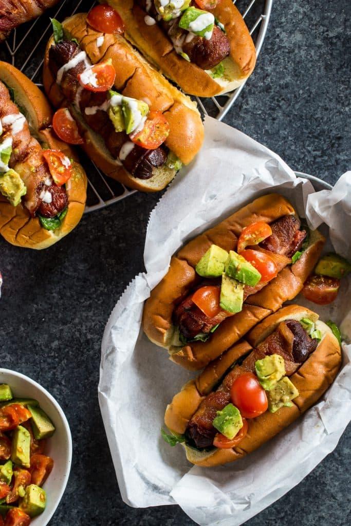 BLAT Hot Dogs | girlinthelittleredkitchen.com
