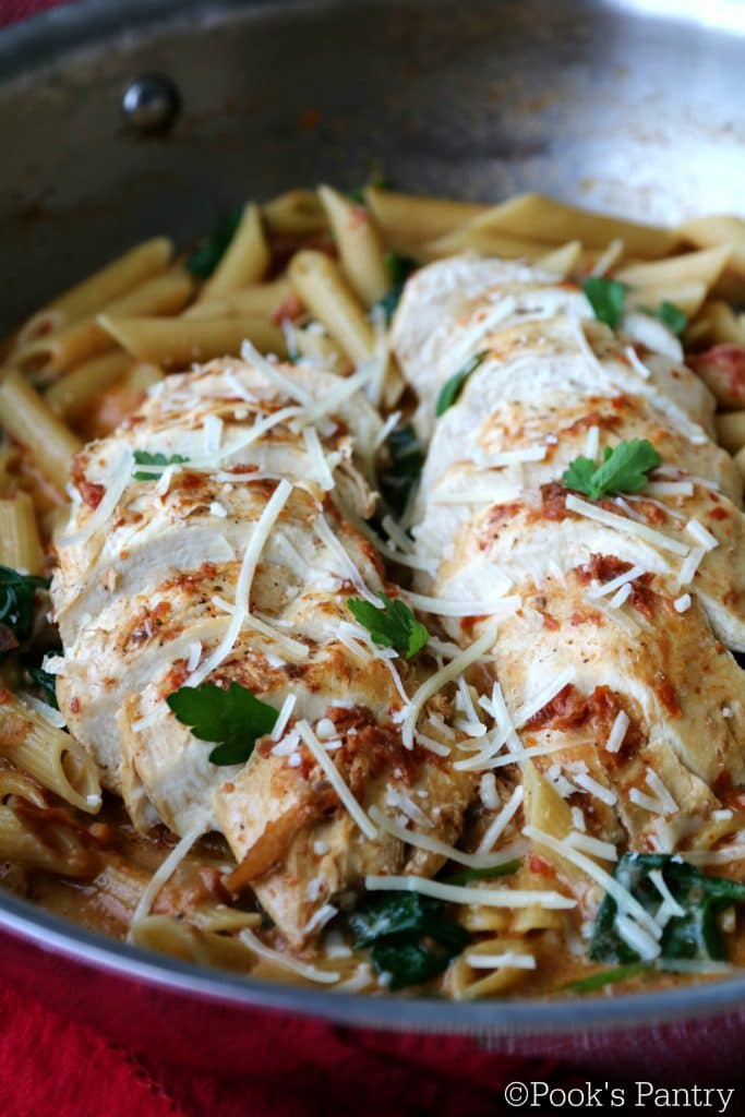 Chicken and Spinach Pasta - Pook's Pantry