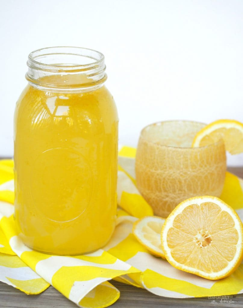 HOMEMADE LEMONADE CONCENTRATE | Comfortably Domestic