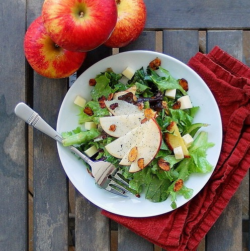 SUMMER SALAD WITH ROASTED APPLE VINAIGRETTE