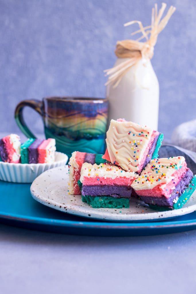 Rainbow Cookies | girlinthelittleredkitchen.com