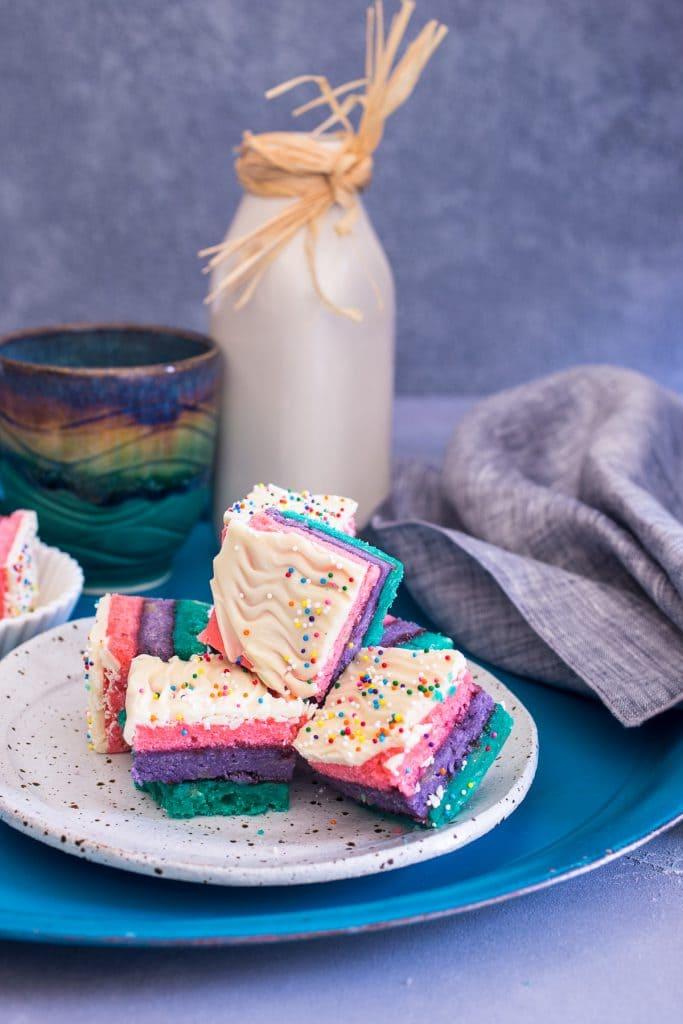 Italian Rainbow Cookies | girlinthelittleredkitchen.com