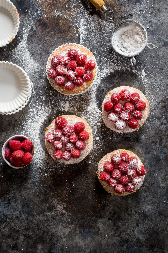 Raspberry Frangipane Tartlets | girlinthelittleredkitchen.com