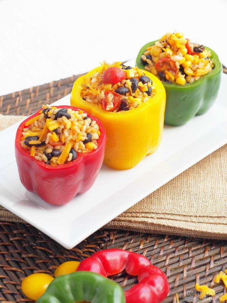 Vegetarian Tex-Mex Stuffed Peppers | COMFORTABLY DOMESTIC