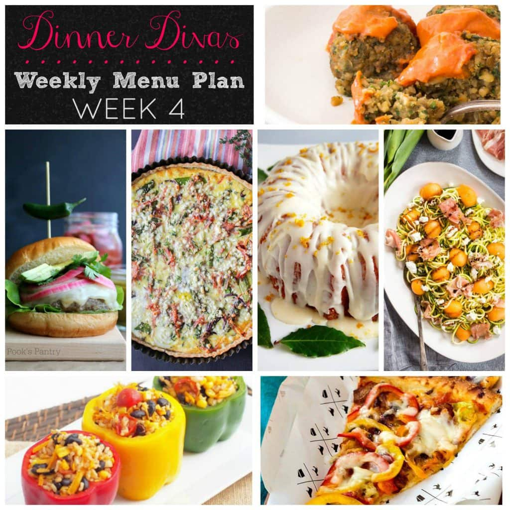 Weekly Meal Plan   girlinthelittleredkitchen.com