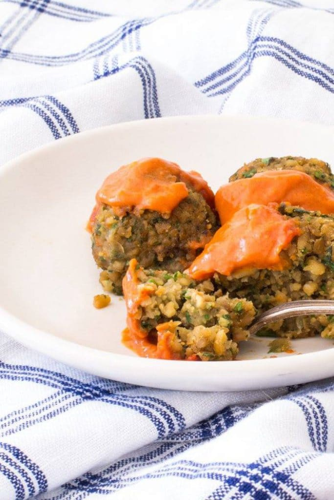 BAKED FALAFElL with SPICY MOROCCAN SAUCE   THE WIMPY VEGETARIAN