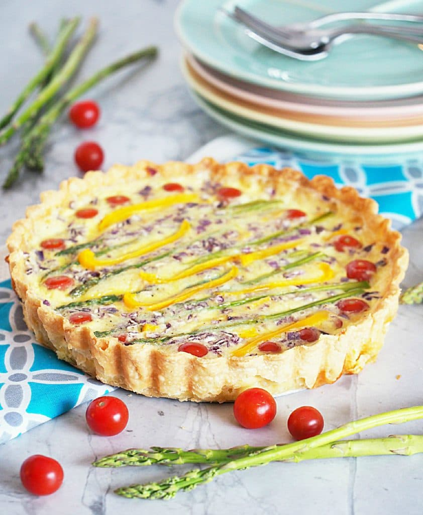 Spring Vegetable Tart | Comfortably Domestic