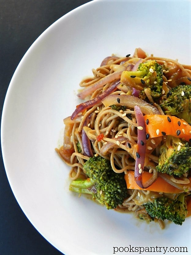 Soba Noodles with Stir Fry Vegetables | Pooks Pantry