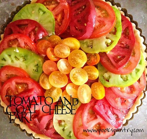 TOMATO AND GOAT CHEESE TART | POOK'S PANTRY