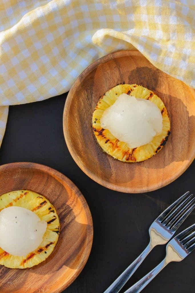 Grilled Pineapple with Vanilla Sorbet | Chef Next Door