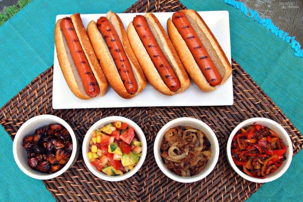 Hot Dogs with  Fresh, Fancy Condiments | Comfortably Domestic