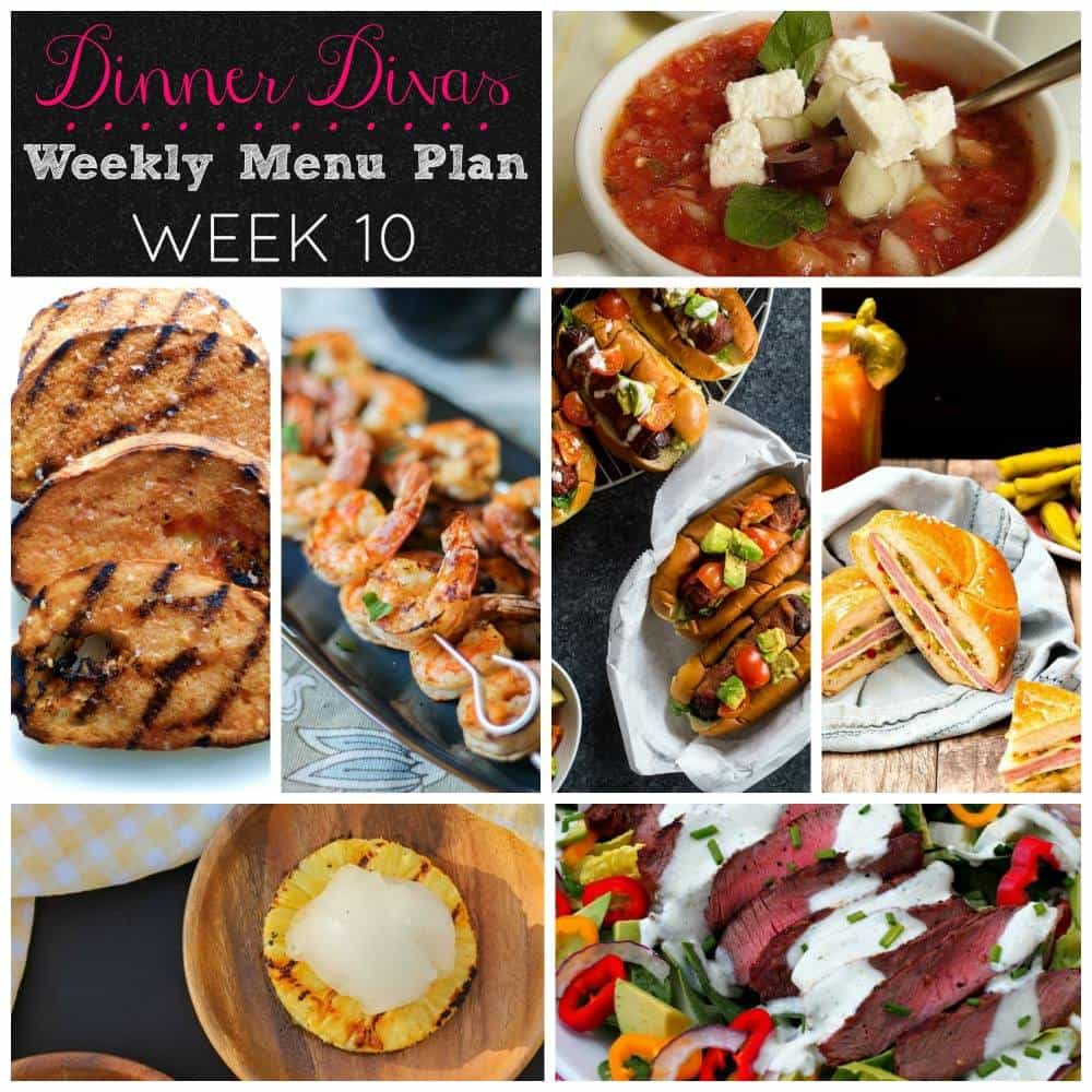 Weekly Meal Plan - Week 10 | girlinthelittleredkitchen.com
