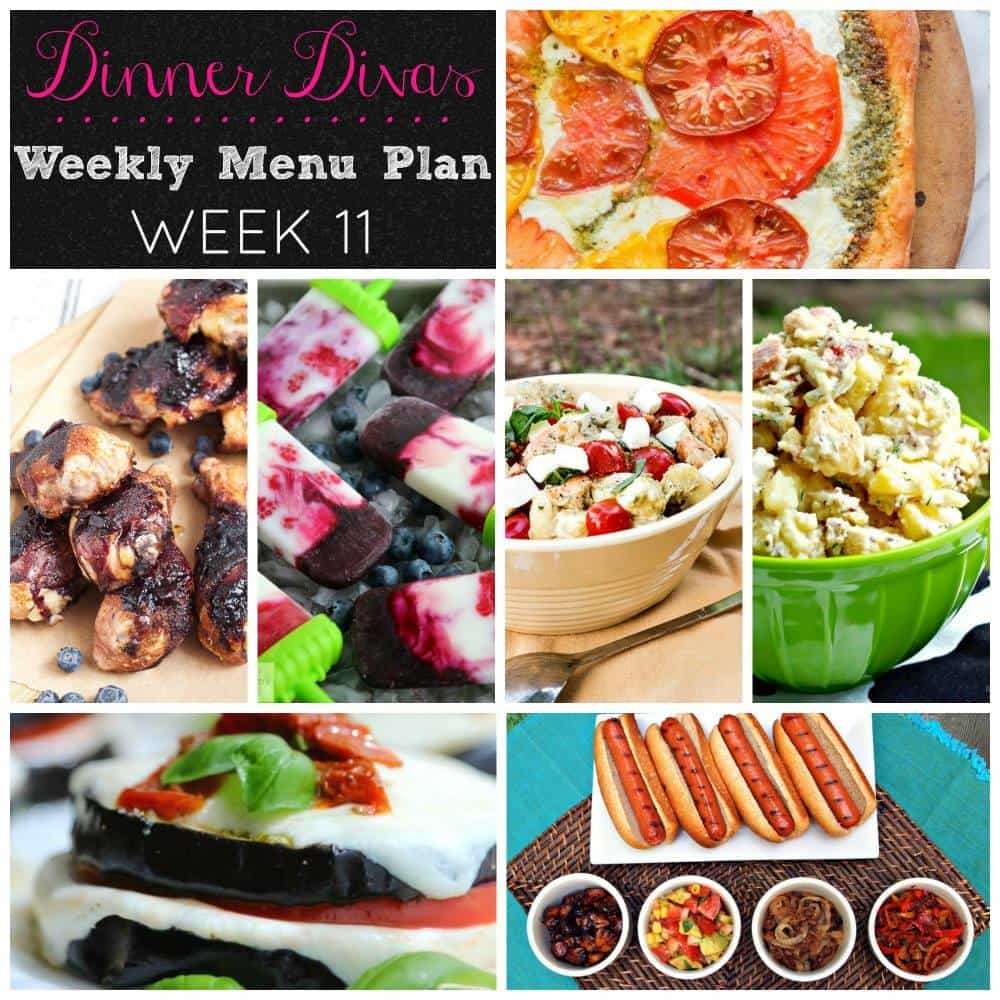 Weekly Meal Plan - Week 11 | girlinthelittleredkitchen.com