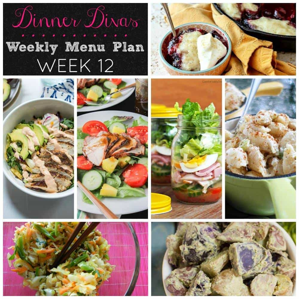 Weekly Meal Plan - Week 12 | girlinthelittleredkitchen.com
