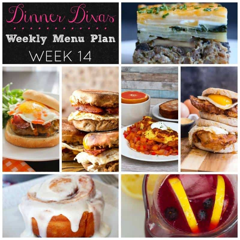 Weekly Meal Plan - Week 14 | girlinthelittleredkitchen.com