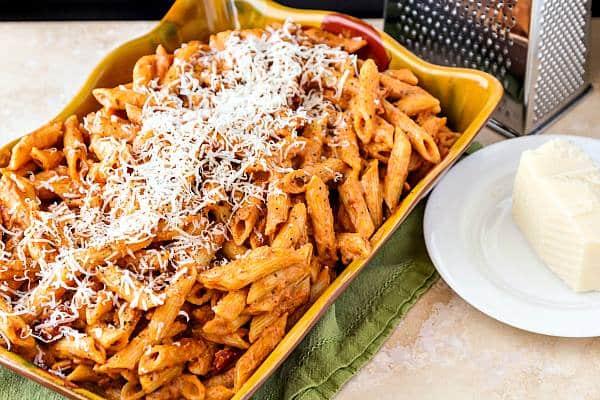 Pasta with Easy Creamy Marinara (or Vodka) Sauce | Pastry Chef Online