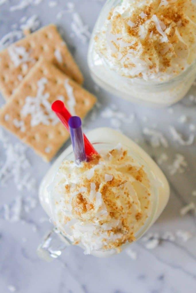 Coconut Cream Pie Milkshakes | Chef Next Door