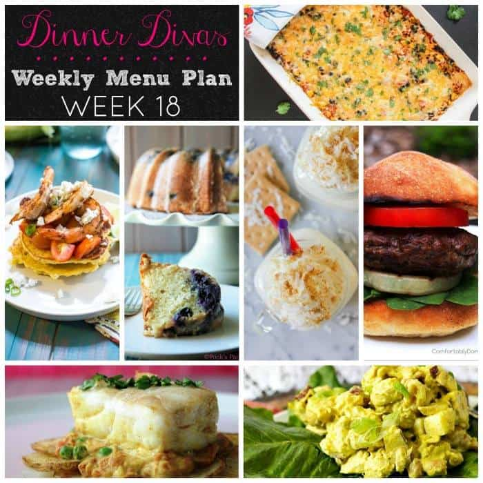 Weekly Meal Plan - Week 18 | girlinthelittleredkitchen.com