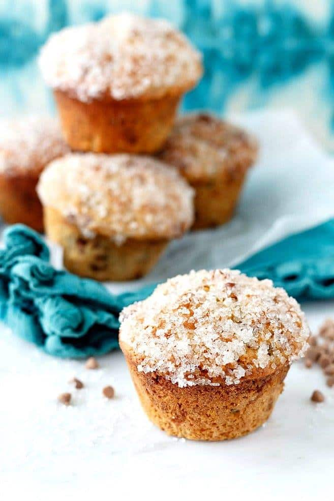 Sparkly Double Cinnamon Raisin Muffins | Pastry Chef Online