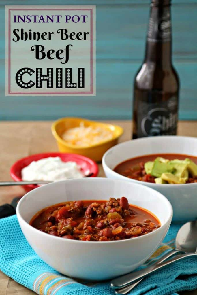 Instant Pot Shiner Beer Beef Chili | Pook's Pantry