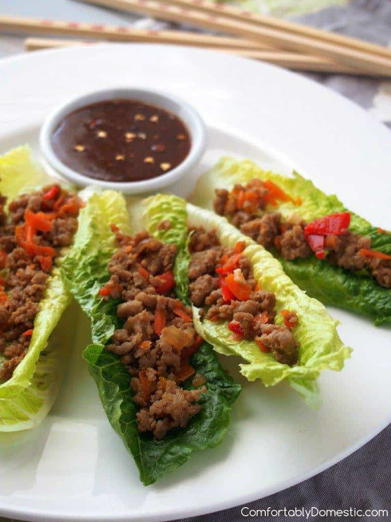 Lettuce Wraps - Copy Cat P.F. Chang's Recipe | Comfortably Domestic