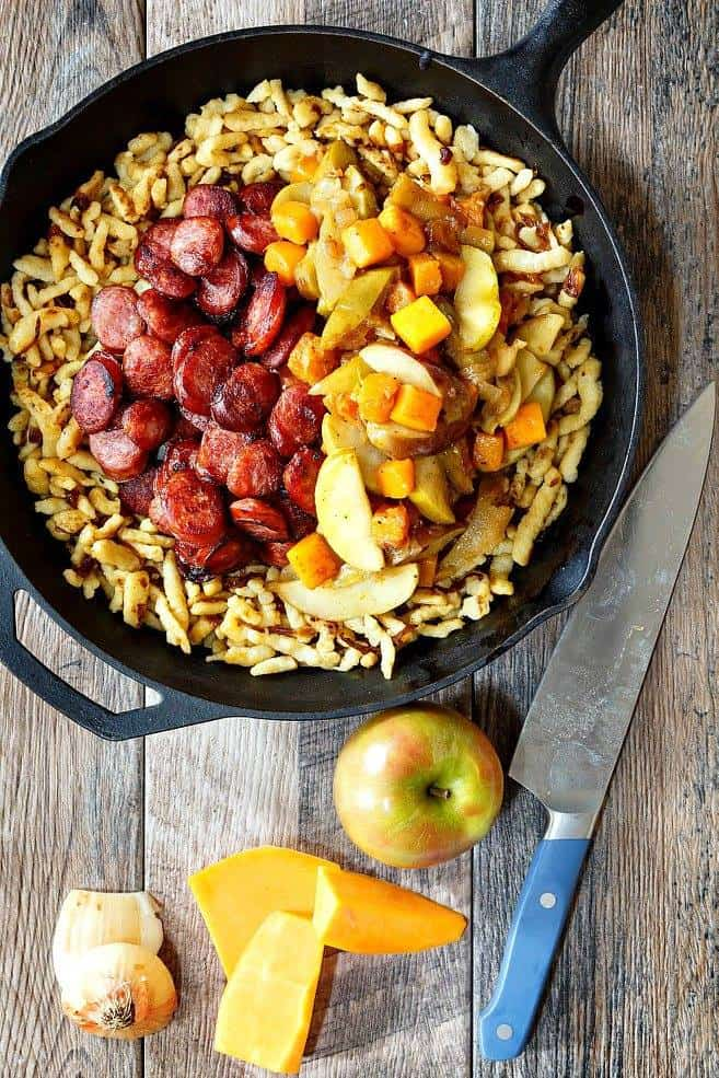 Sausage with Apples, Onions, and Butternut Squash | Pastry Chef Online