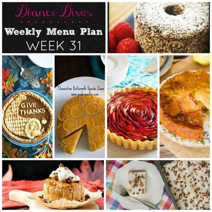 Weekly Meal Plan - Week 31 | girlinthelittleredkitchen.com