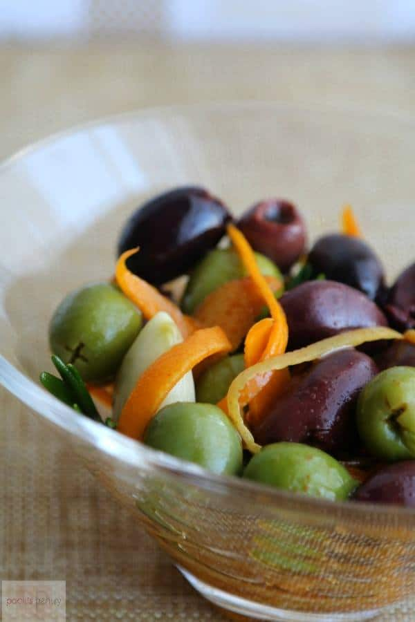 Easy, Spanish-Style Marinated Olives | Pook's Pantry