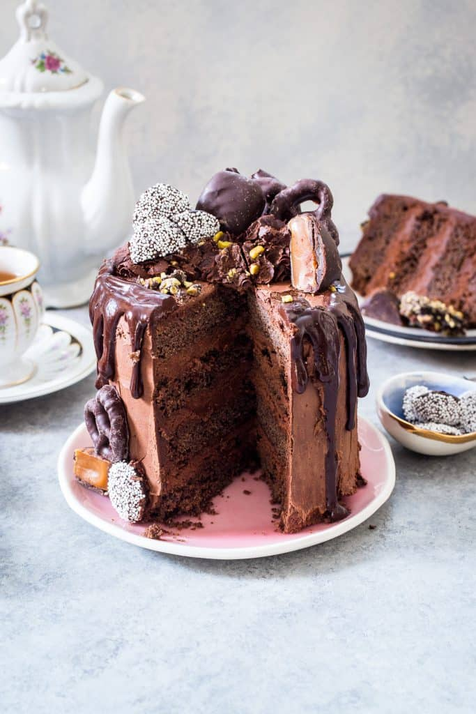 Death by Chocolate Cake | girlinthelittleredkitchen.com